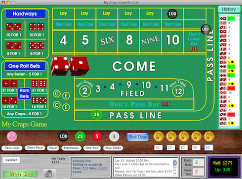 Screen shot of My Craps Game